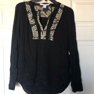 Black DVF Blouse Size 8